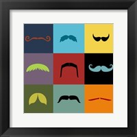 Framed Moustache Grid