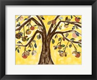 Framed Yellow Orange Tree