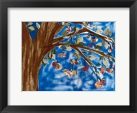 Framed Blue Apple Tree