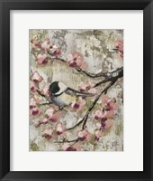 Framed Cherry Blossom Bird II