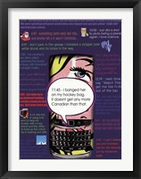 Framed Text Me Toons