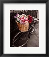 Framed Basket of Flowers I