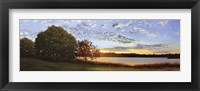 Framed Lakeside Sunrise