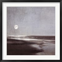 Framed Moonlit Beach