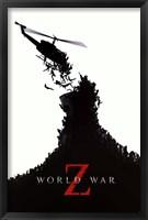 Framed World War Z - black and white