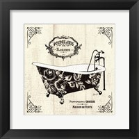 Framed French Bath II- Tub