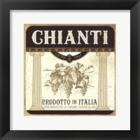 Wine Labels III Framed Print
