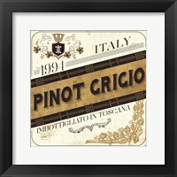 Framed Wine Labels IV