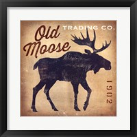 Framed Old Moose Trading Co. Tan