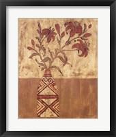 Framed Batik Tiger Lilies
