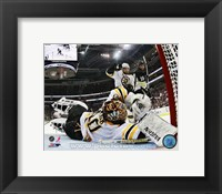 Framed Tuukka Rask 2012-13 Playoff Action