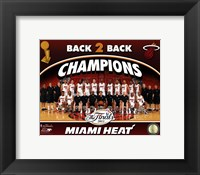 Framed Miami Heat 2013 NBA Champions Team Photo