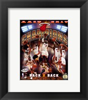 Framed Miami Heat 2013 NBA Champions Composite