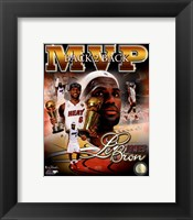 Framed LeBron James 2013 NBA Finals MVP Portrait Plus