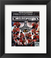 Framed Chicago Blackhawks 2013 NHL Stanley Cup Champions Composite
