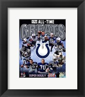 Framed Indianapolis Colts All Time Greats Composite