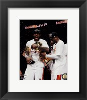 Framed LeBron James & Dwyane Wade Celebrate after Game 7 of the 2013 NBA Finals
