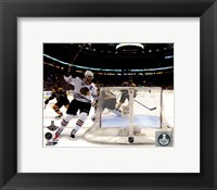 Framed Jonathan Toews goal celebration Game 6 of the 2013 Stanley Cup Finals