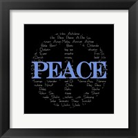 Framed Peace Sign - black