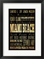 Framed Miami Beach Florida I