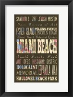 Framed Miami Beach Florida II