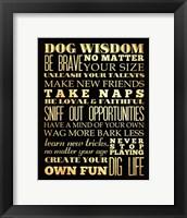 Framed Dog Wisdom