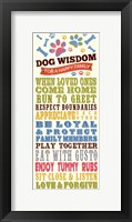Framed Dog Wisdom-Happy Family
