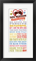 Framed Dog Wisdom-Happy Marriage