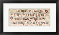Little Playmate Framed Print