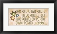 One Potato Framed Print