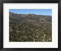 Framed Aerial view of Santa Barbara, California