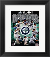 Framed Seattle Mariners All Time Greats Composite