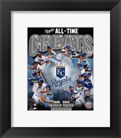 Framed Kansas City Royals All Time Greats Composite