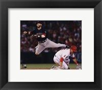 Framed Dustin Pedroia 2013 in Action