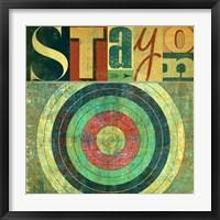 Framed Stay on Target