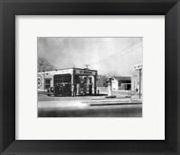 Framed Harlow's Service Station, Anaheim 1930