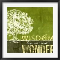 Framed Wisdom Begins with Wonder