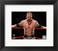 Framed Triple H 2013 Posed