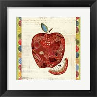 Framed Fruit Collage I - Apple