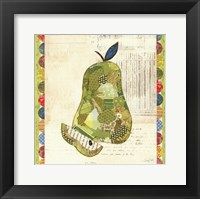 Framed Fruit Collage III - Pear