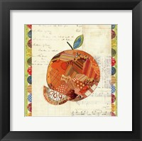 Framed Fruit Collage IV - Orange