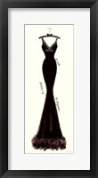 Couture Noir Original I Framed Print