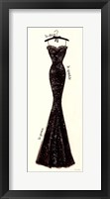 Framed Couture Noir Original IV