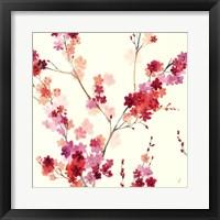 Framed Apple Blossoms Crop I