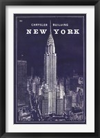 Framed Blueprint Map New York Chrysler Building