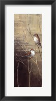Sparrows at Dusk II Framed Print