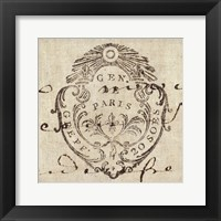 Framed Letter Crest I