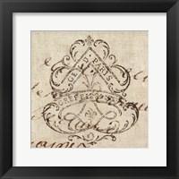 Framed Letter Crest III