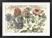 Framed Le Jardin Printemps
