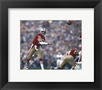 Framed Joe Montana Super Bowl XIX 1985 Action
